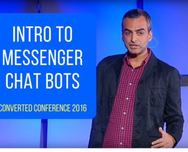 183Intro to Messenger Chatbots: Andrew Warner's talk at Converted 2016 by LeadPages