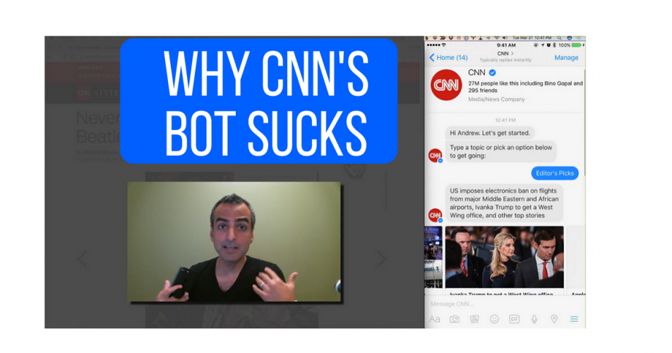 Why CNN's Facebook Messenger Chatbot Sucks