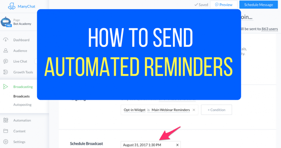 How To Send Automated Reminders Through Facebook Messenger