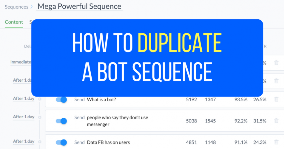 How to Duplicate A Bot Sequence In 57 Seconds