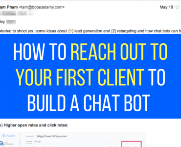 1262How to Reach Out To Your First Client To Build a Chatbot (with exact email scripts)