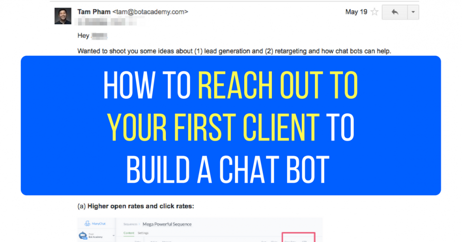 How to Reach Out To Your First Client To Build a Chatbot (with exact email scripts)